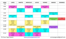 Horario/Schedule